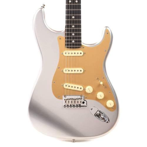 Fender American Ultra Stratocaster Quicksilver w/Ebony Fingerboard & Anodized Gold Pickguard