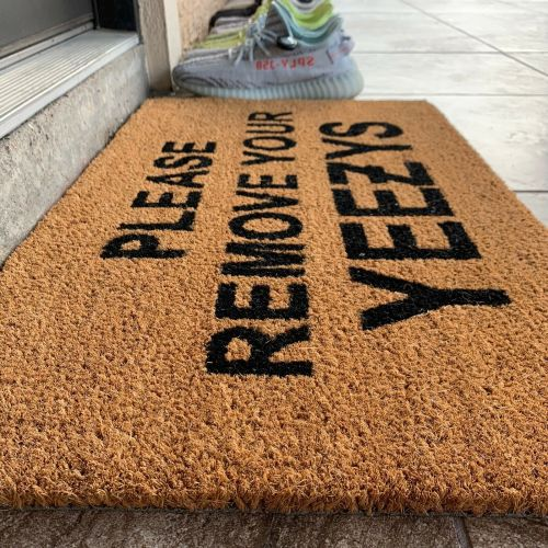 'Please Remove Your Yeezys' Doormat