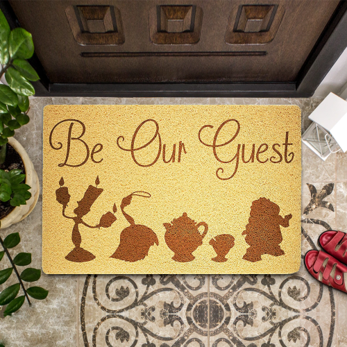The Beauty and Beast Door Mat
