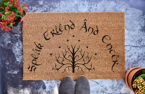 Lord of the Rings Inspired Doormat