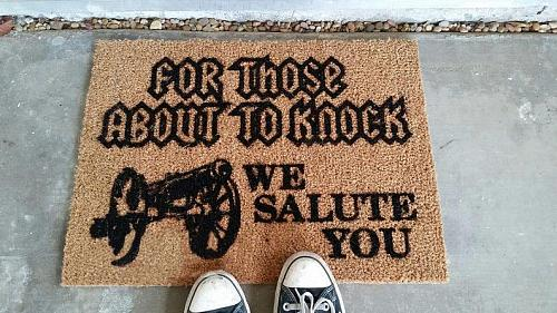 For Those About to Knock Doormat