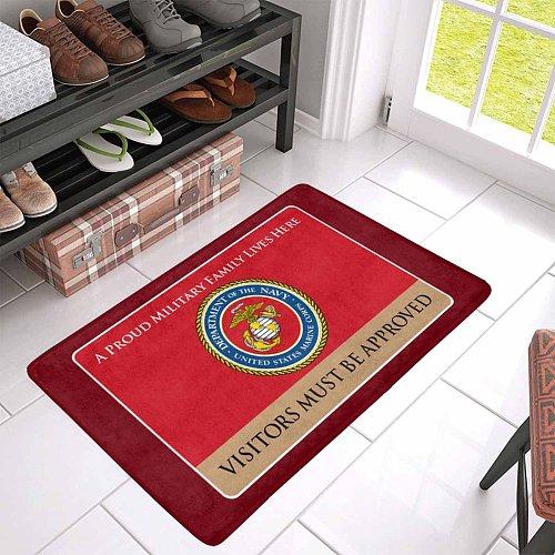 Proud Military Family USMC Doormat