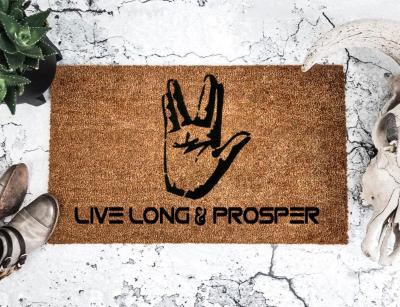 Live Long & Prosper - Spock - Star Trek - Doormat