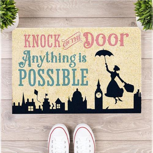 MARY POPPINS ANYTHING IS POSSIBLE DOORMAT
