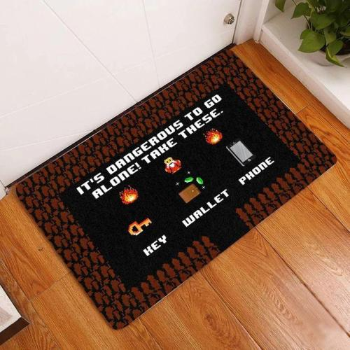 Take These Key Wallet Phone Doormat