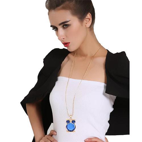 Gemstone Owl Necklace