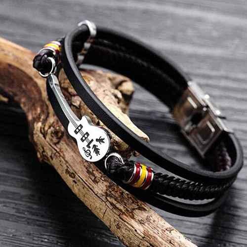 Guitar Multi-layer Braided Bracelets