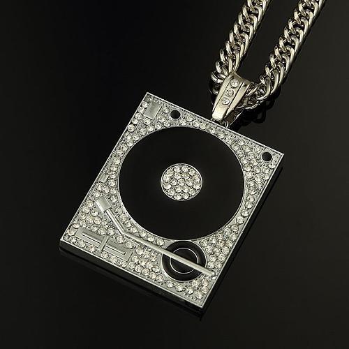 DJ Phonograph Big Pendant Necklace Hiphop Chain