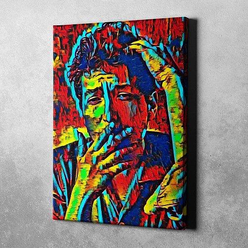 Bob Dylan Canvas Painting Art