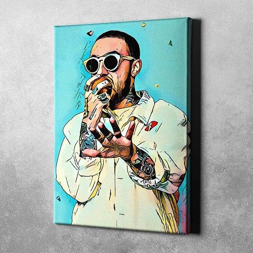 Mac Miller Canvas Painting Art