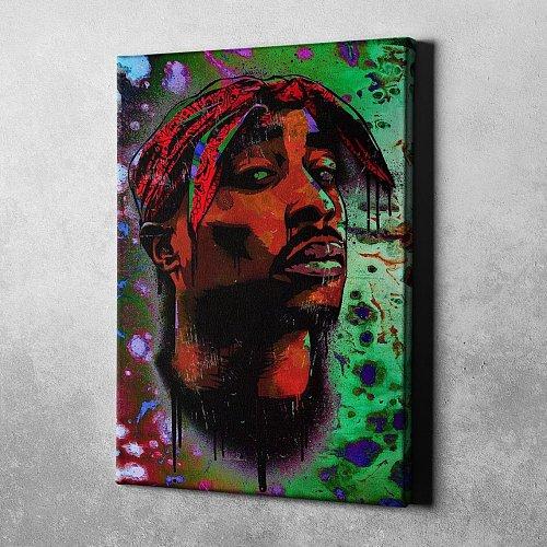 Tupac Shakur Canvas Painting Art