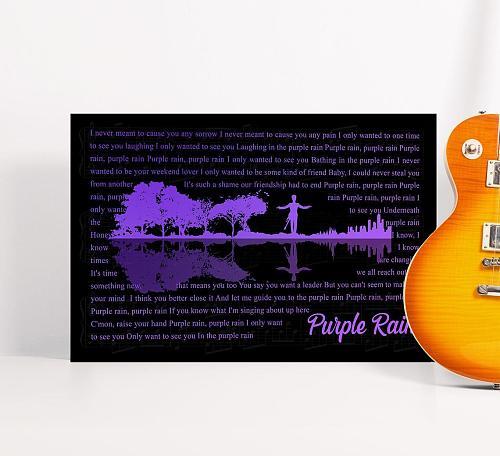 Purple Rain Lyrics Poster Canvas Art