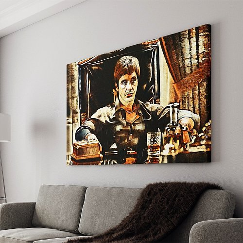 Scarface Canvas Painting Art