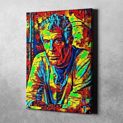 Anthony Bourdain Canvas Painting Art