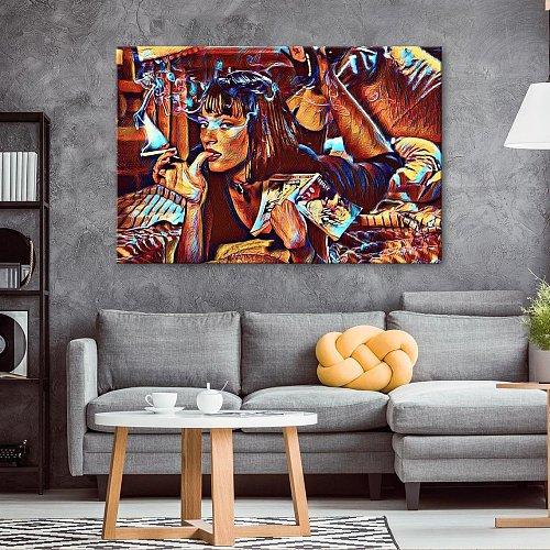 Pulp Fiction Canvas Painting Art