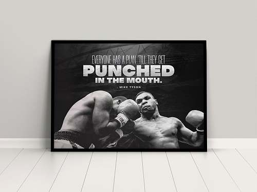 Mike Tyson Box Legends Canvas Painting Art