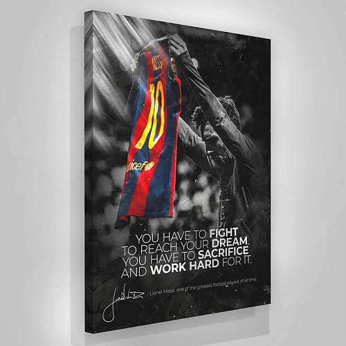 Lionel Messi Football Poster Canvas Painting Art