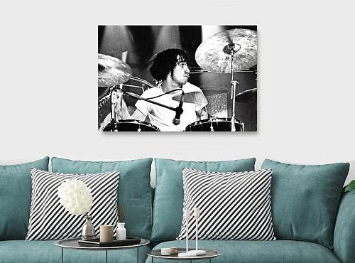 Keith Moon Drummer Inspired Canvas Painting Art