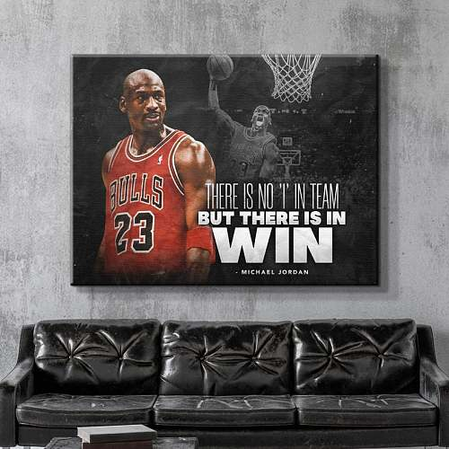 Michael Jordan Famous Basketball Legends Canvas Painting  Art