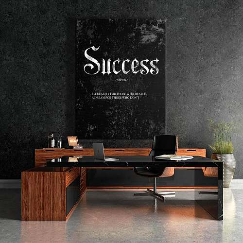 Success Noun High Quality Canvas Art