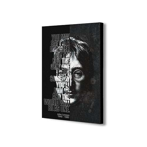 John Lennon Inspired Canvas Painting Art