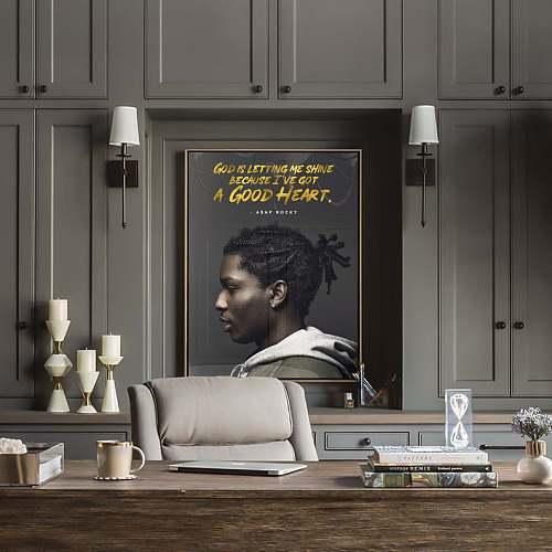 ASAP Rocky Rap Legends Canvas Painting Art