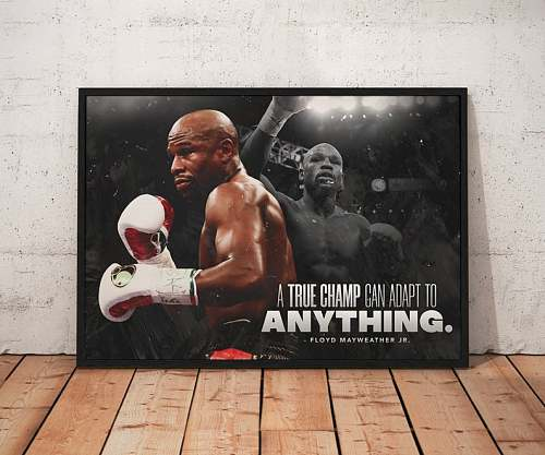 Floyd Mayweather Box Legends Canvas Painting Art