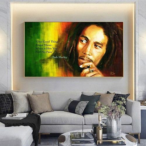 Bob Marley Positive Quotes Art Canvas