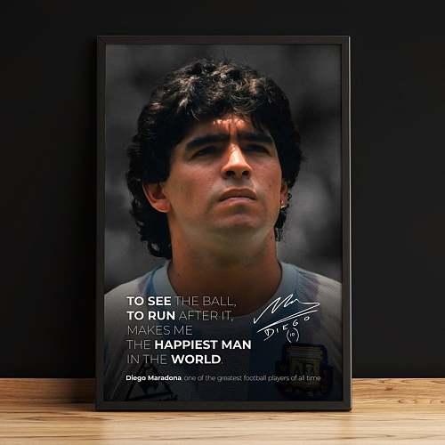 Diego Maradona Inspired Canvas Painting Art