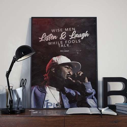 50Cent Curtis Jackson Rap Legends Canvas Painting Art