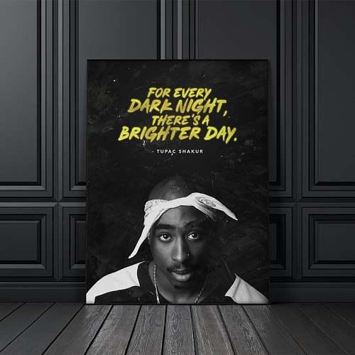 Tupac Shakur 2Pac Rap Legends Canvas Painting Art
