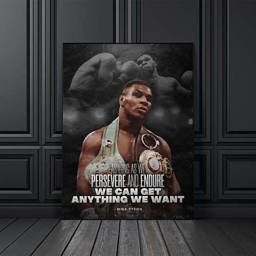 Mike Tyson Motivation Box Legends Canvas Painting Art