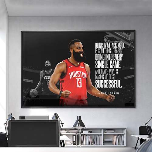 James Harden Inspired Canvas Painting Art