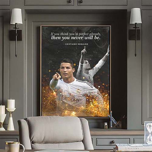 Cristiano Ronaldo Football Legends Canvas Painting  Art