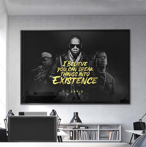 Jay-Z Hip Hop Legends High Quality Canvas Painting Art