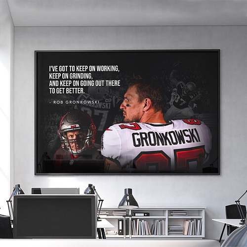 Rob Gronkowski Tampa Bay Buccaneers NFL Legends Canvas Painting Art