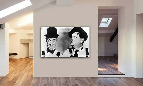 Laurel And Hardy Canvas Painting Art