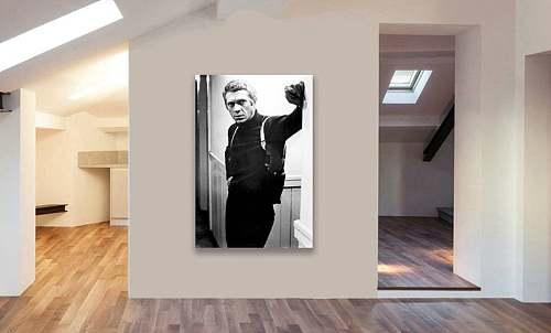 Steve McQueen Bullitt Canvas Painting Art