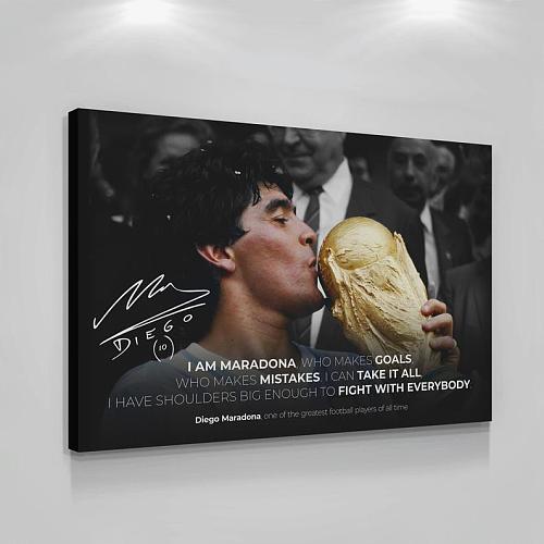 Diego Maradona Argentine Professional Football Player Legend Canvas Painting Art