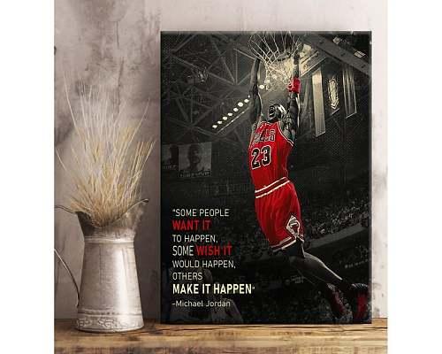 Jordan Famous Basketball Legends Canvas Painting Art