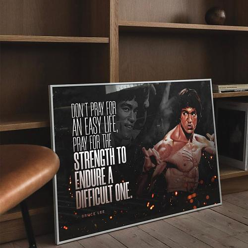 Bruce Lee Martial Arts Legends High Quality Canvas Painting Art