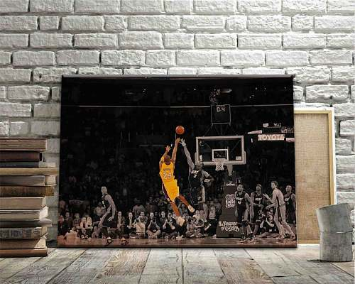 Kobe Bryant Inspired Famous Basketball Legends Canvas Painting Art
