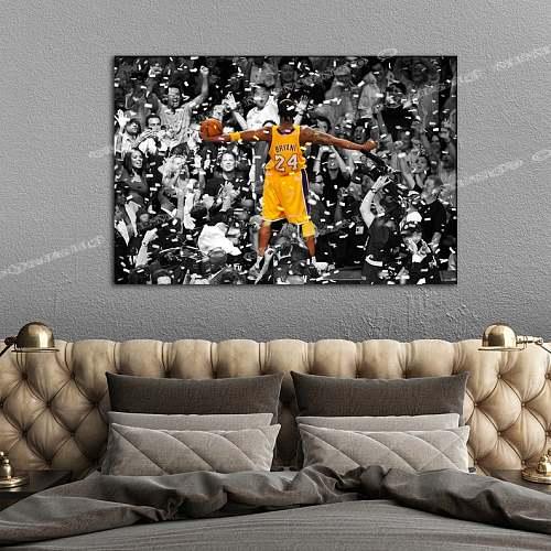 Kobe Bryant Inspired Famous Basketball Legends Canvas Painting Art