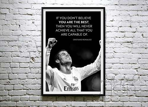Cristiano Ronaldo Inspired Famous Basketball Legends Canvas Painting Art