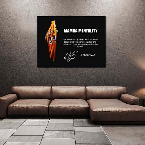 Kobe Bryant | Black Mamba Inspired Famous Basketball Legends Canvas Painting Art