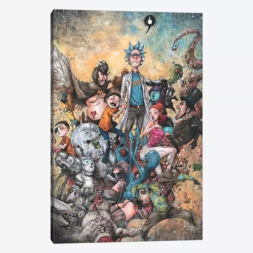 Rick And Morty Canvas Painting Art