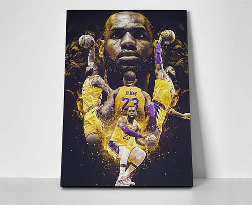 LeBron James Inspired Famous Basketball Legends Canvas Painting Art