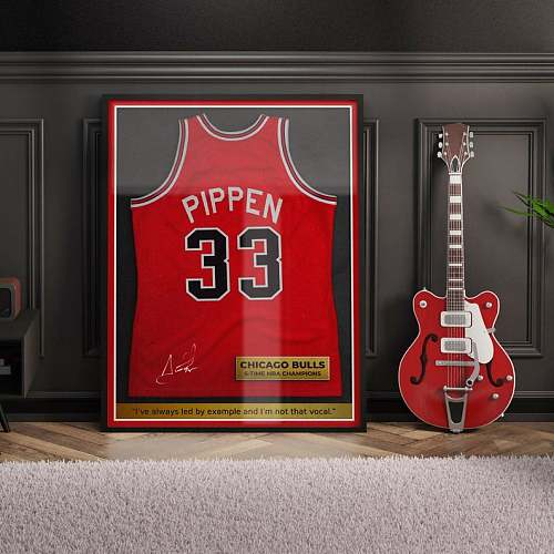 Scotty Pippen Inspired Famous Basketball Legends Canvas Painting Art