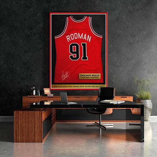 Dennis Rodman Inspired Famous Basketball Legends Canvas Painting Art