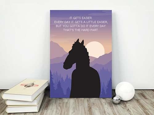 BoJack Horseman Canvas Painting Art